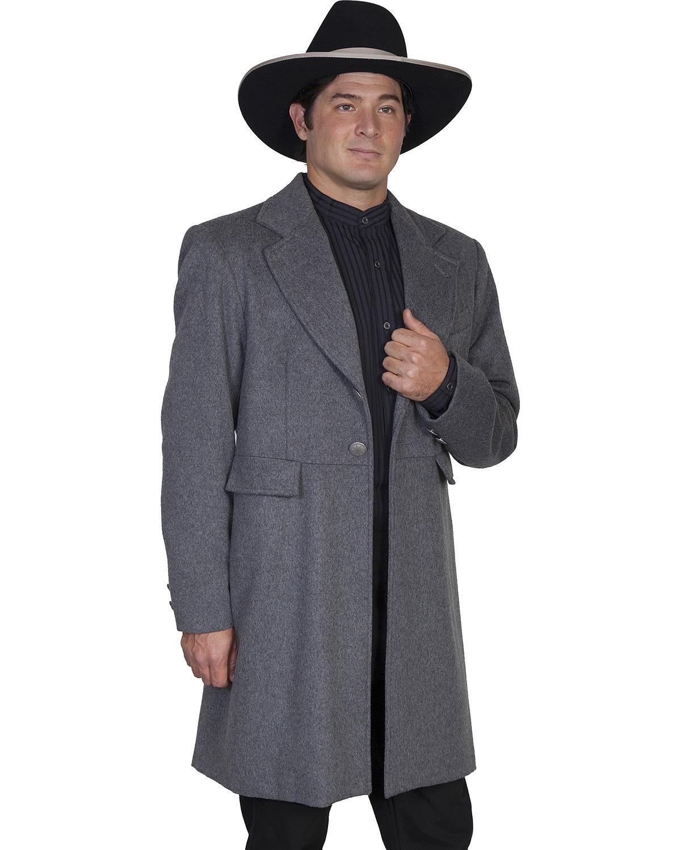 WahMaker by Scully Men's Old West Wool Blend Frock Coat Charcoal Grey 38