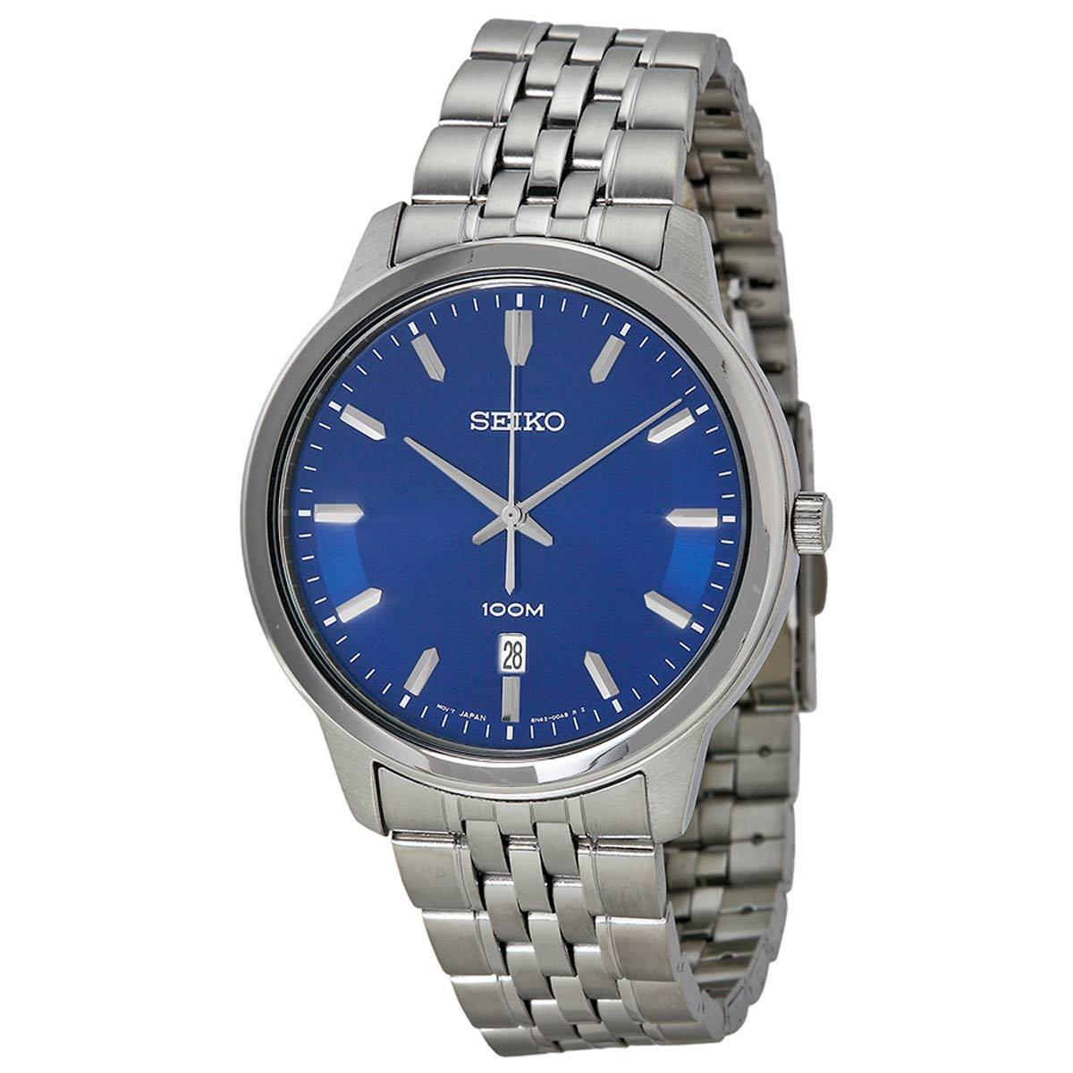 47ae21824 Seiko Neo Classic SUR029 P1 Blue Dial Stainless Steel Men's Analog Quartz  Watch: Amazon.com.au: Fashion