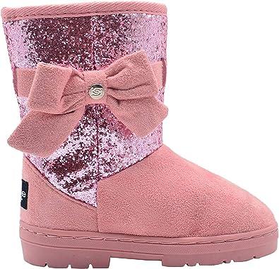 bebe Girls Glitter Winter Boots