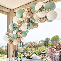 Sage Green Balloon Garland Arch Kit – 119 Pack With White Ivory Gold Metallic Confetti Latex Balloons ,18 inch Big Sage…