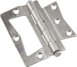 NATIONAL MFG CO N830437 Satin Nickel Surface Mount Hinge, 3.5""