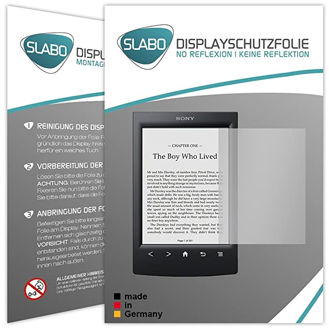 Slabo 2 x Protector de Pantalla para Sony Reader PRS-T2 lámina ...