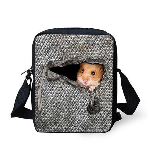 2c51c8157e Showudesigns Kangaroo Printing Messenger School Shoulder Bag for Small Boys  Girls