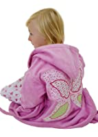 PINK FAIRY BATHROBE WITH FAIRY WING APPLIQUE 4-6 YRS GREAT FOR SWIMMING POOL AND BEACH
