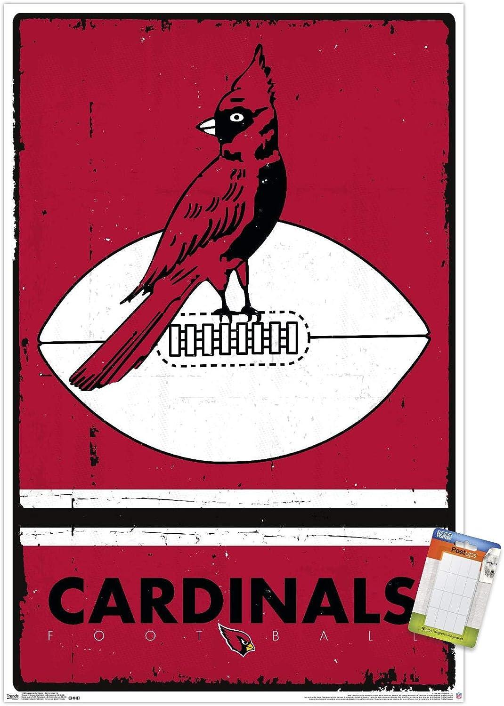 Trends International NFL Arizona Cardinals - Retro Logo 15 Wall Poster, 22.375