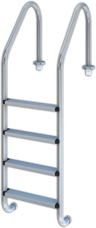 Productos QP 509084 - Escalera estándar 4 peldaños aisi 304: Amazon.es: Jardín