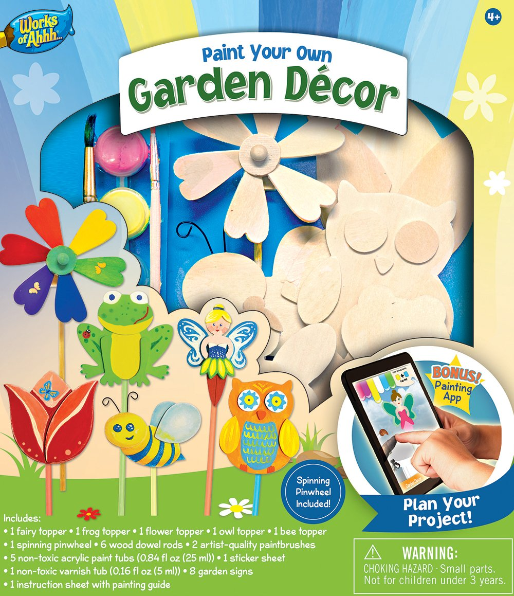 Spinning garden decorations - Amazon Com Masterpieces Works Of Ahhh Garden D Cor Wood Paint Kit Toys Games