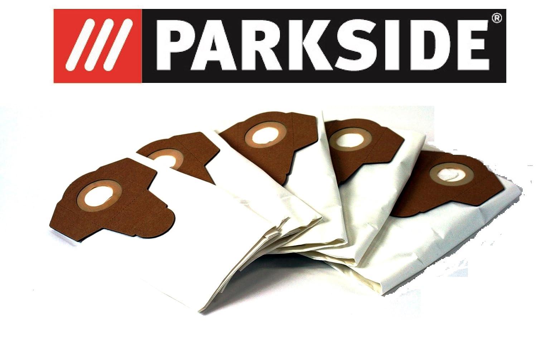 5 bolsas de aspiradora Fieltro/Bolsas para polvo fino polvo Parkside Lidl mojado aspiradora en seco pnts 1250, 1300, 1400, 1500 A1, B1, B2, B3, C1, C3, D1, ...