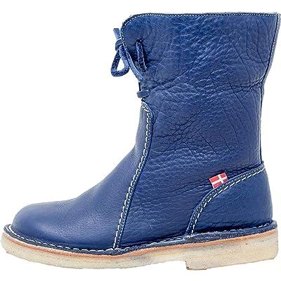 Duckfeet Arhus Unisex Wool-Lined Pebbled Leather Boot | Mid-Calf