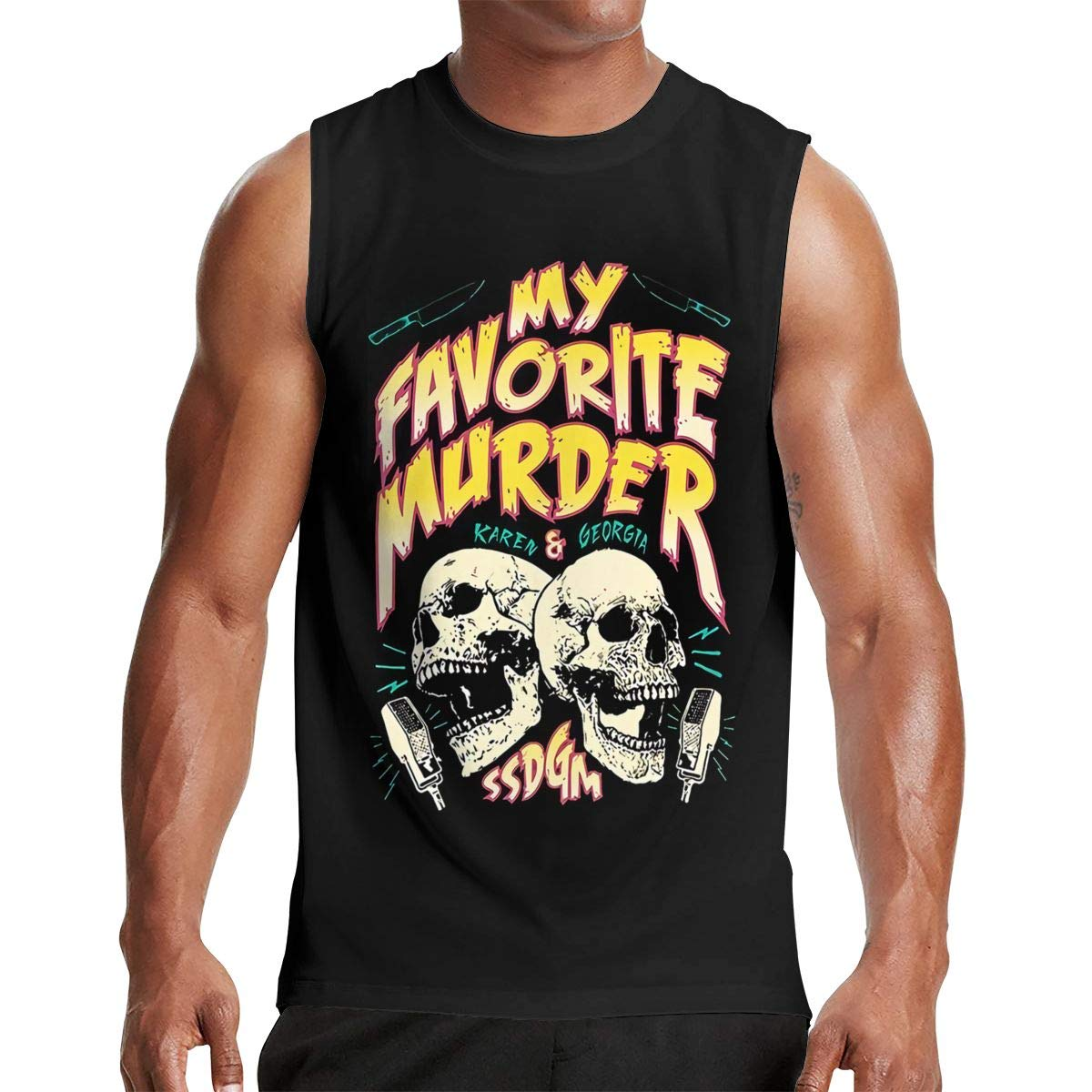 Thomlarryca My Favorite Murder Tour S Gym Muscle T Shirt Classic Athletic Sleeveless T