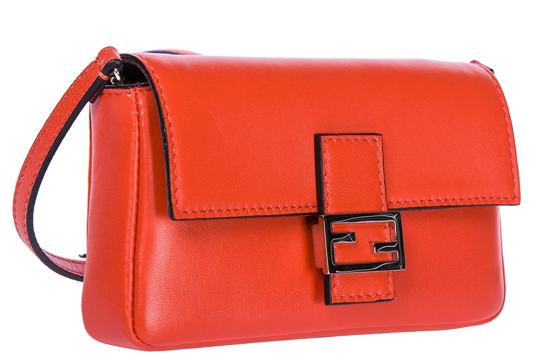aa850f88c054 Fendi women s leather shoulder bag original micro baguette red   Amazon.co.uk  Shoes   Bags