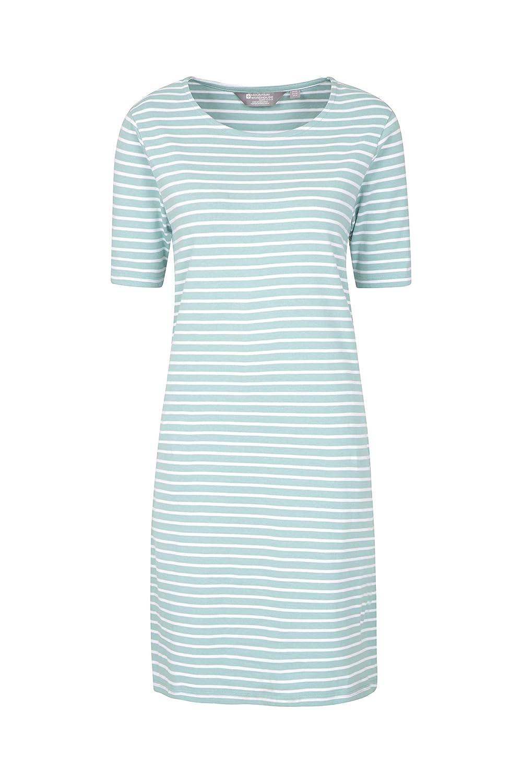 Mountain Warehouse Rome langes Damenkleid mit kurzen /ärmeln atmungsaktive Sommerbekleidung Maxikleid mit UV-Schutz leicht,sportlich f/ür Urlaube Strand Reisen