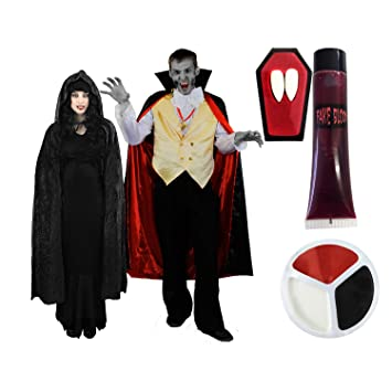 Ilovefancydress Vampire Paar Kostum Verkleidung Fur Fasching