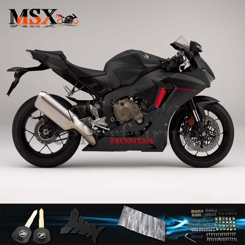 MSX-moto 適応ホンダ Honda CBR1000 2017 2018 CBR 1000 17 18年 外装パーツセット ABS射出成型完全なオートバイ車体 黒/ブラックのボディ   B07G2NGC57
