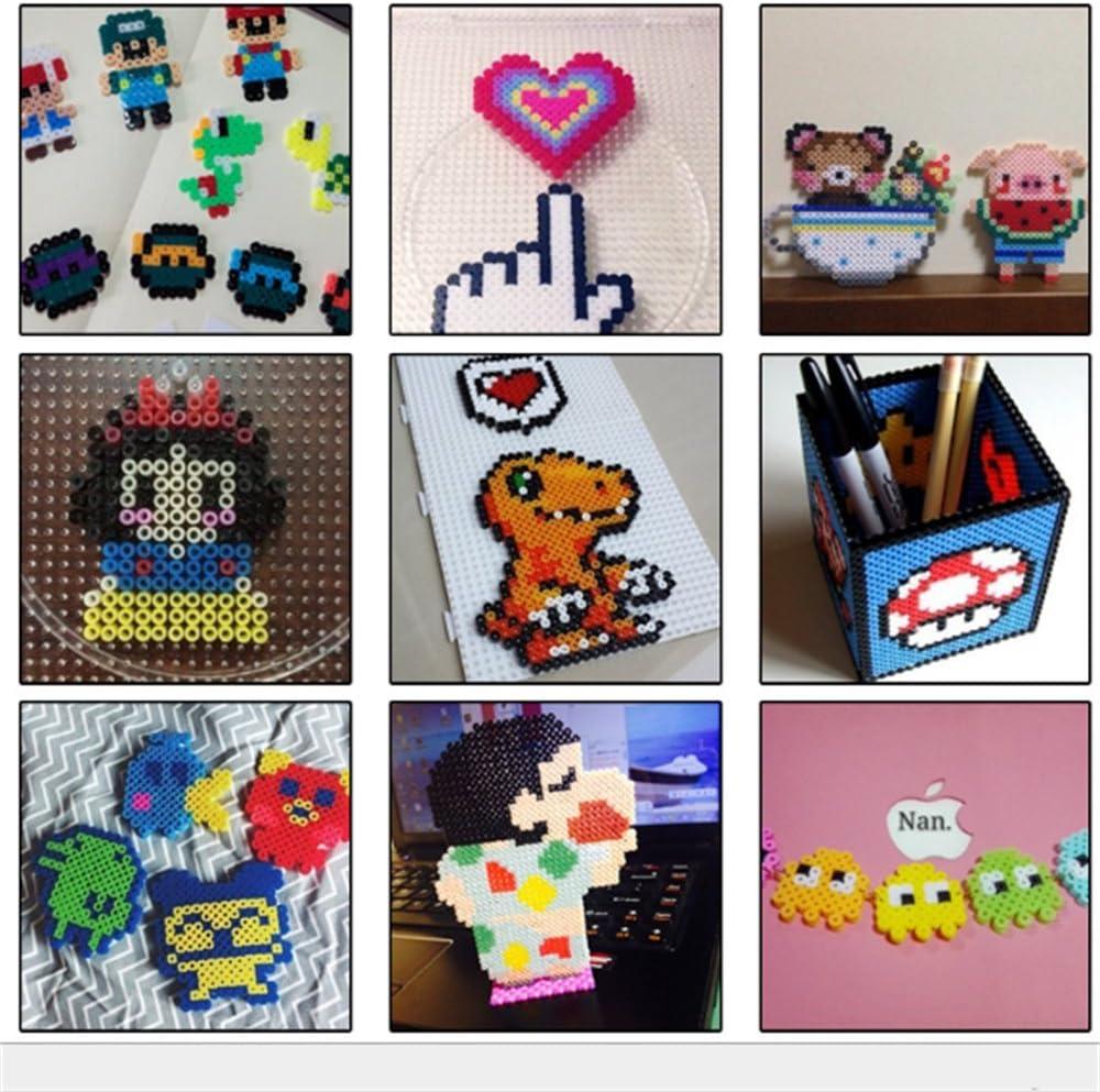 Kehuahsina Ni/ños DIY Juguetes Midi Fuse Beads Tama/ño 2.6mm 36000PCS 72 Colores Plastic Box with 5PCS Papel de Planchado PERLER Beads