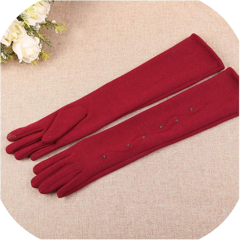 Women Velvet Gloves Cuff...