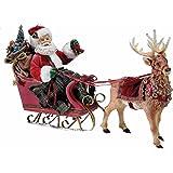 kurt adler 10 inch santa in sleigh with deer - Santa With Reindeer