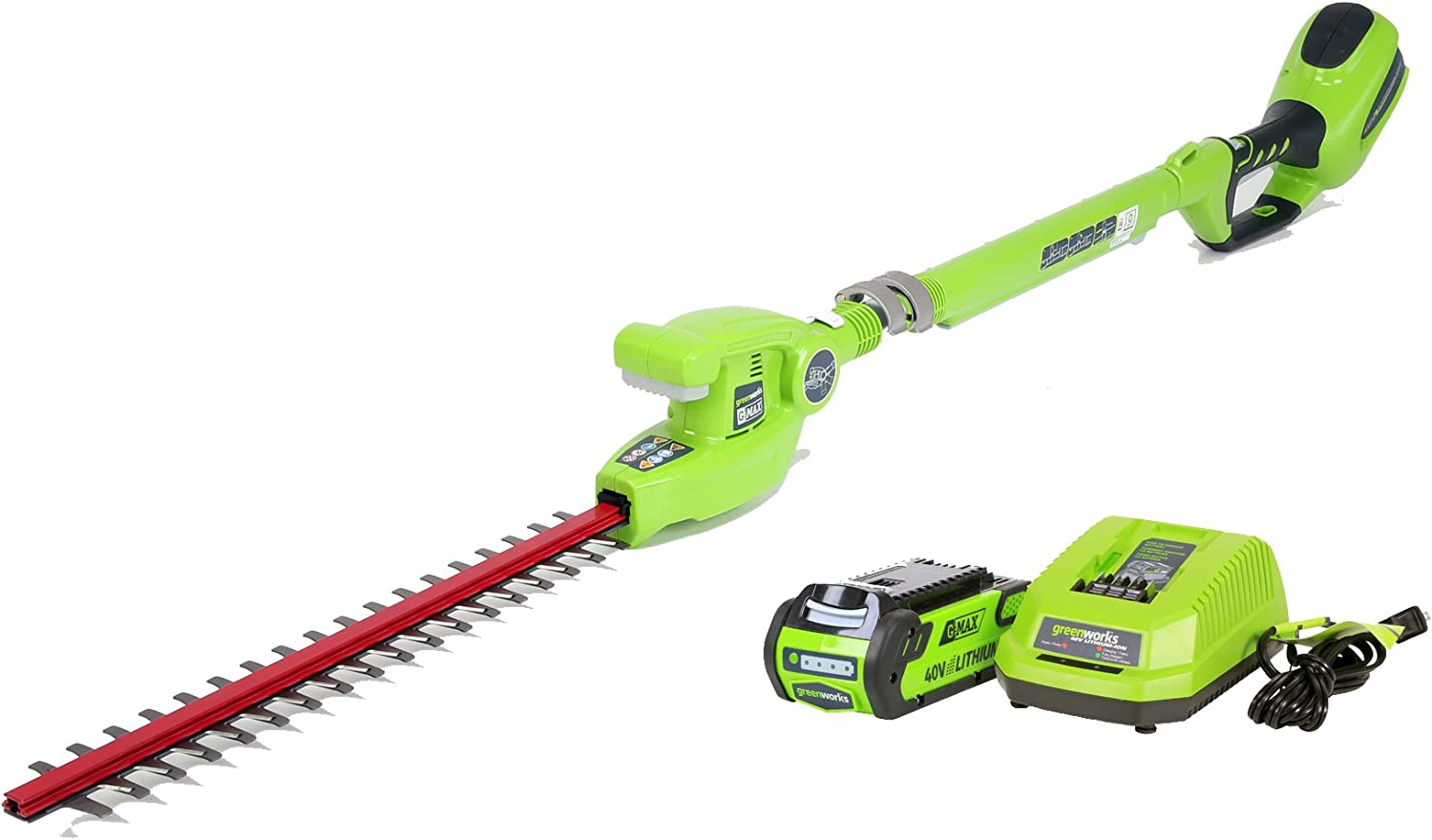 6. Greenworks Cordless Pole Hedge Trimmer