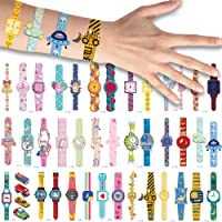 40 PCS Cartoon Watch Assorted Temporary Tattoos For Children Girls Birthday Party Favors Supplies Bracelet Tattoo…