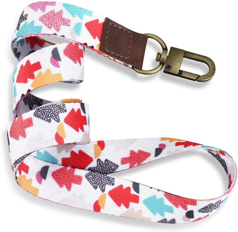 48520Mm Keychain Straps Rope Mobile Phonek Strap Lanyard for ID Card Key Chain USB Badge Holder DIY Lariat Lanyard Hang Rop,Pink