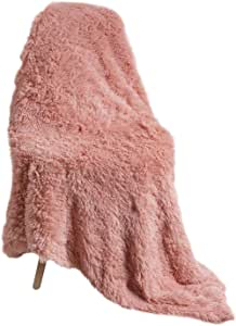 Luciphia Puppy Dog Blankets,Faux Fur Pet Blanket Soft Flannel Throw for Cats Rabbits Pink Large