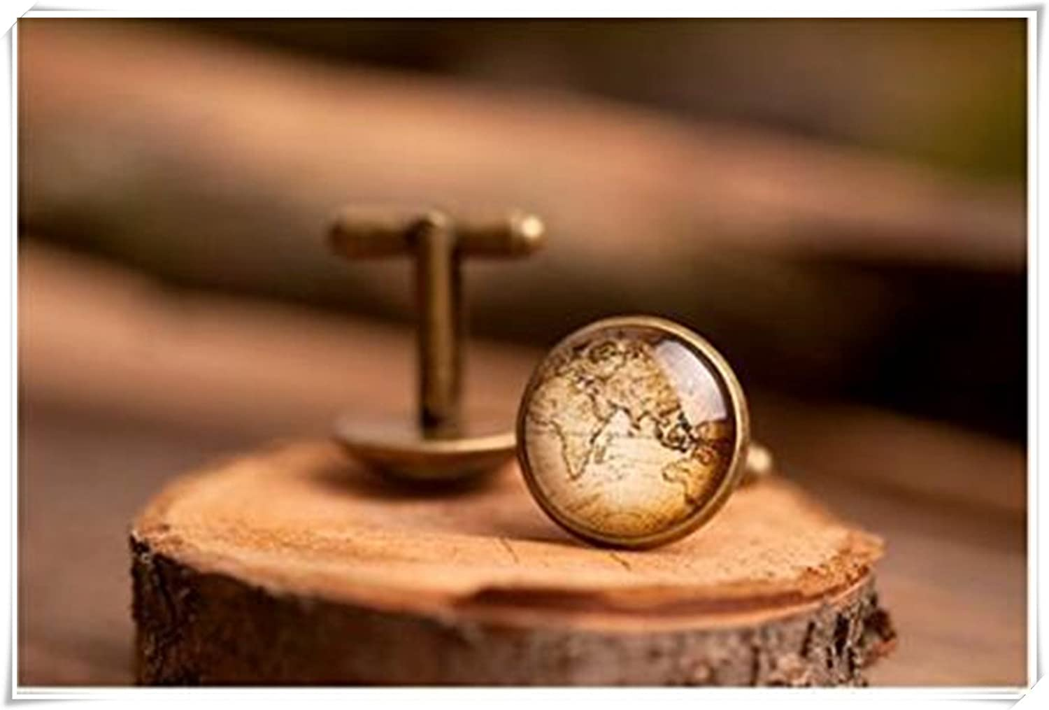 Men cufflinks, map cufflinks, antique cufflinks, CX28