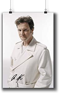Colin Firth Actor Movie Photo Poster Prints 006-007 Reprint Signed,Wall Art Decor for Dorm Bedroom Living Room (A4|8x12inch|21x29cm)