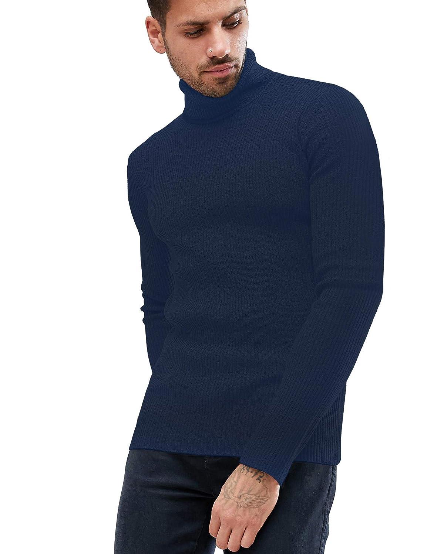 Daupanzees Mens Casual Basic Thermal Turtleneck Slim Fit Pullover Thermal Sweaters