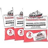 Fisherman's Friend - Menthol Cough Suppressant Lozenges Original Extra Strong 2 Pack - 40 Lozenges.Pack of 3