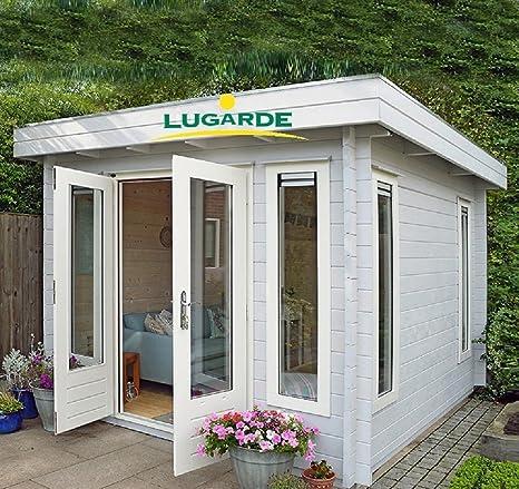 lugarde Jardín Casa Kassel Madera de abeto nuevo Bloque Diseño con alas para puerta y Tejado