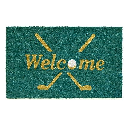 Superieur Home U0026 More 122142436 Golf Welcome Doormat, Multicolor