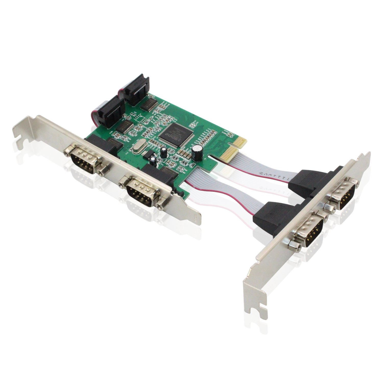 Tanbin 4-ports DB-9 rs232 PCI-e serial controller PCI Express I/O card Moschip 9904 Chipset with low profile bracket