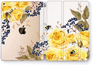 Wonder Wild Yellow Rose iPad Cover Pro 9.7 inch Flowers Mini 1 2 3 4 Red Floral Print Air 2 10.5 12.9 Apple Smart Stand Case Hard 5th 6th Generation Design 10.2 11 Bouquet Cute Berries Gentle