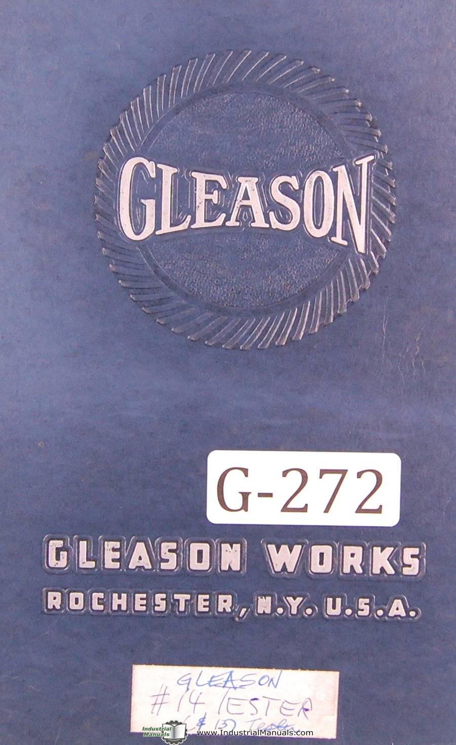 Gleason Operators Instruction No 14 Angular Gear Testing