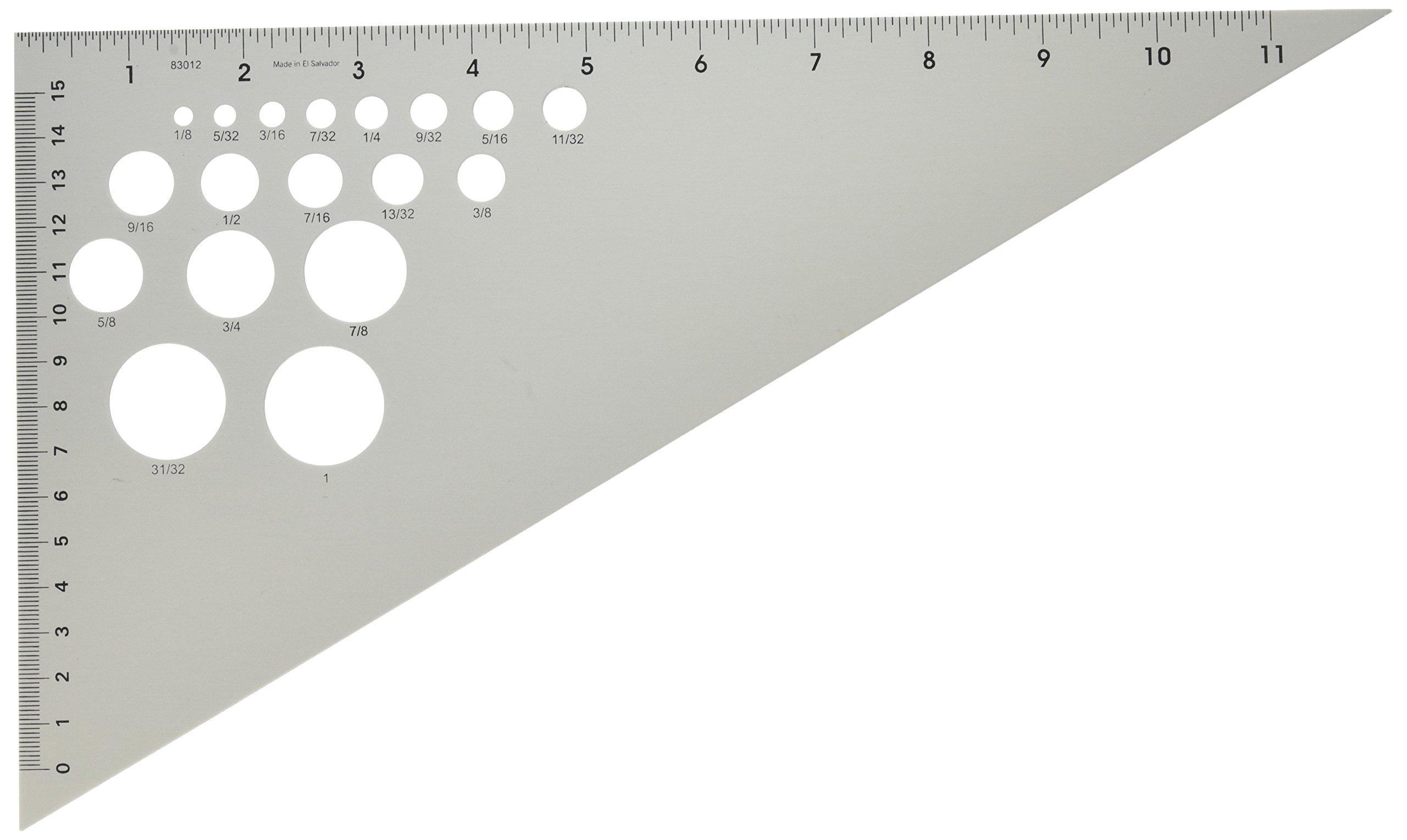 Alumicolor 83012 Ludwig Precision 12-Inch 30-60-90-Degree Triangle