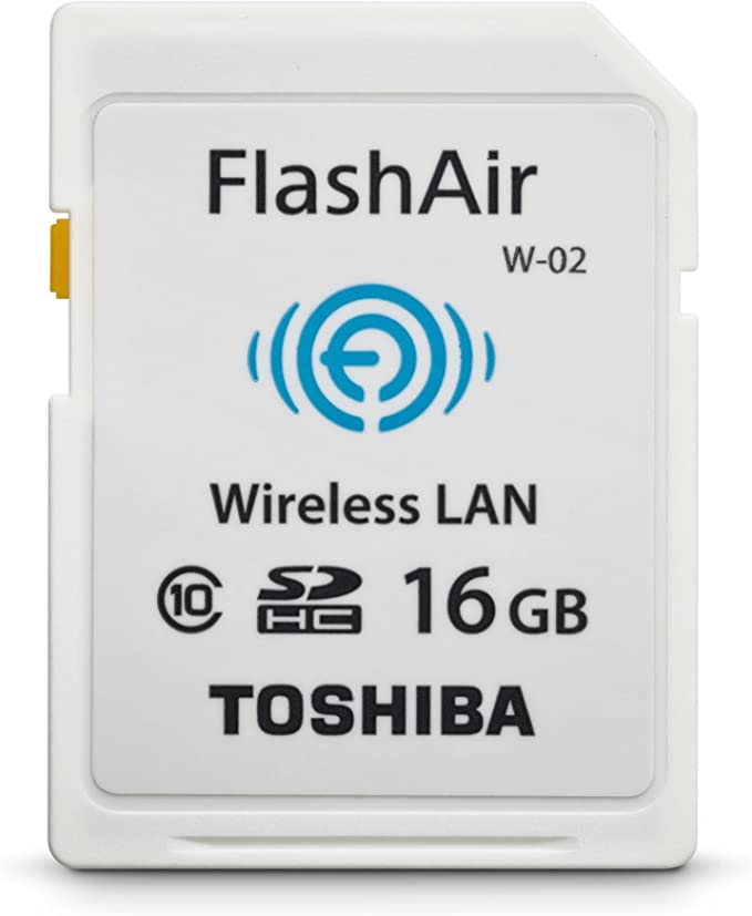 Toshiba Flash Air II Wireless 16 GB SD Memory Card (PFW016U-1BCW)