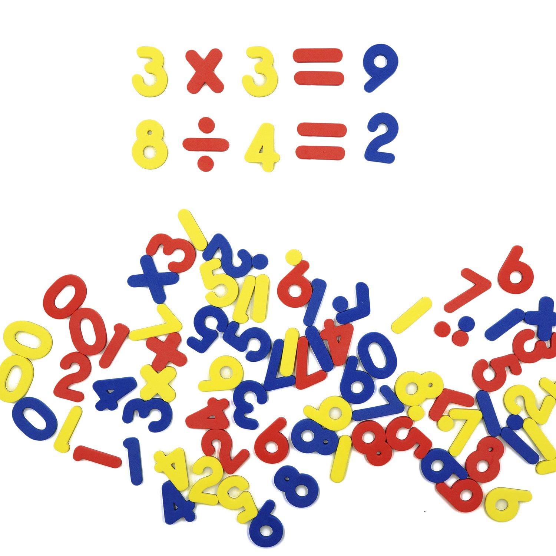 SpriteGru 102pcs Magnetic Numbers for Basic Math Mathematics Education