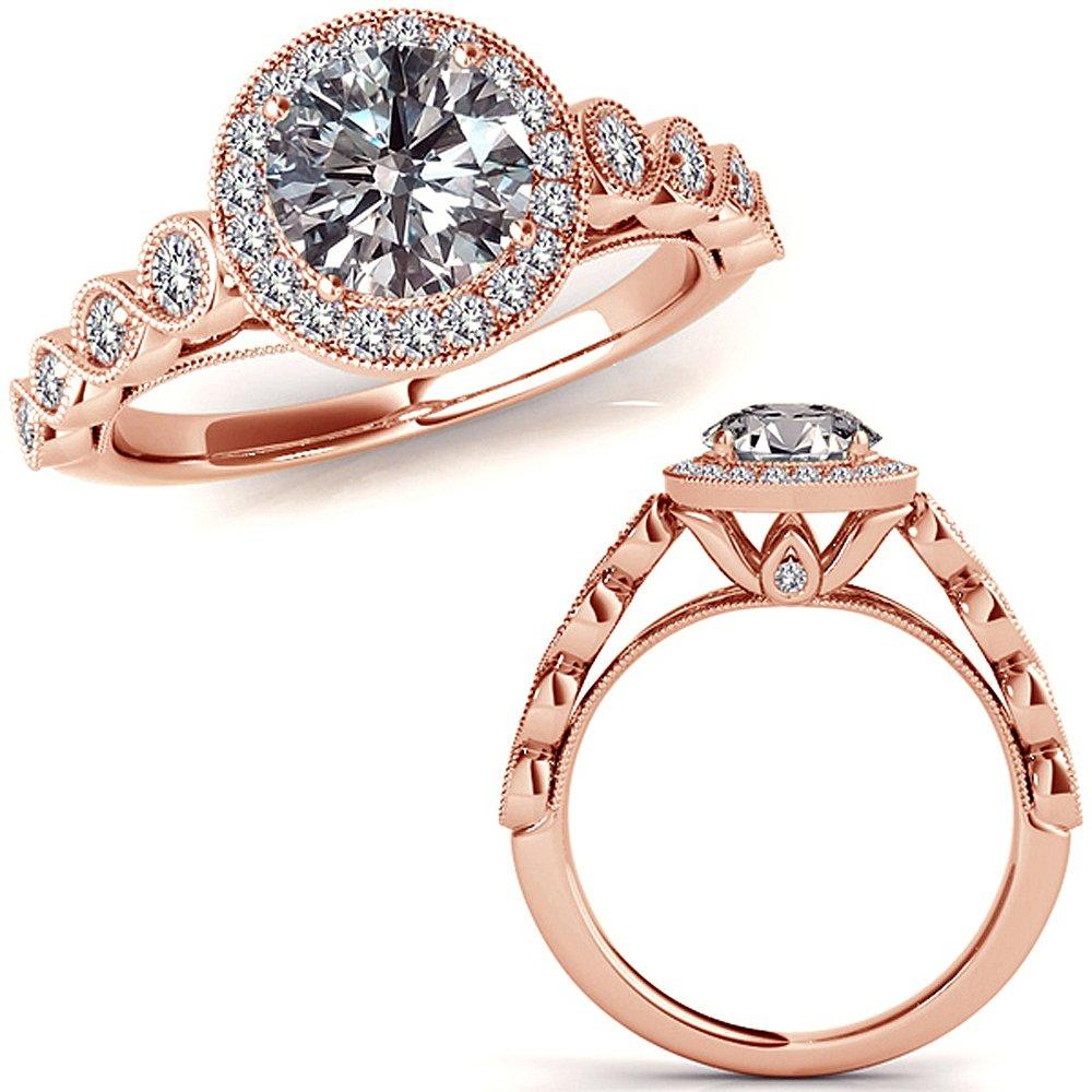 125 Carat Gh Diamond Halo Half Infinity Engagement Couple Love Fancy Wedding Band Ring 14k Rose Gold: Half Infinity Wedding Band At Websimilar.org