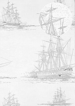 Grafik Tapete Atlas Sig 584 1 Vliestapete Glatt Im Maritimen Design