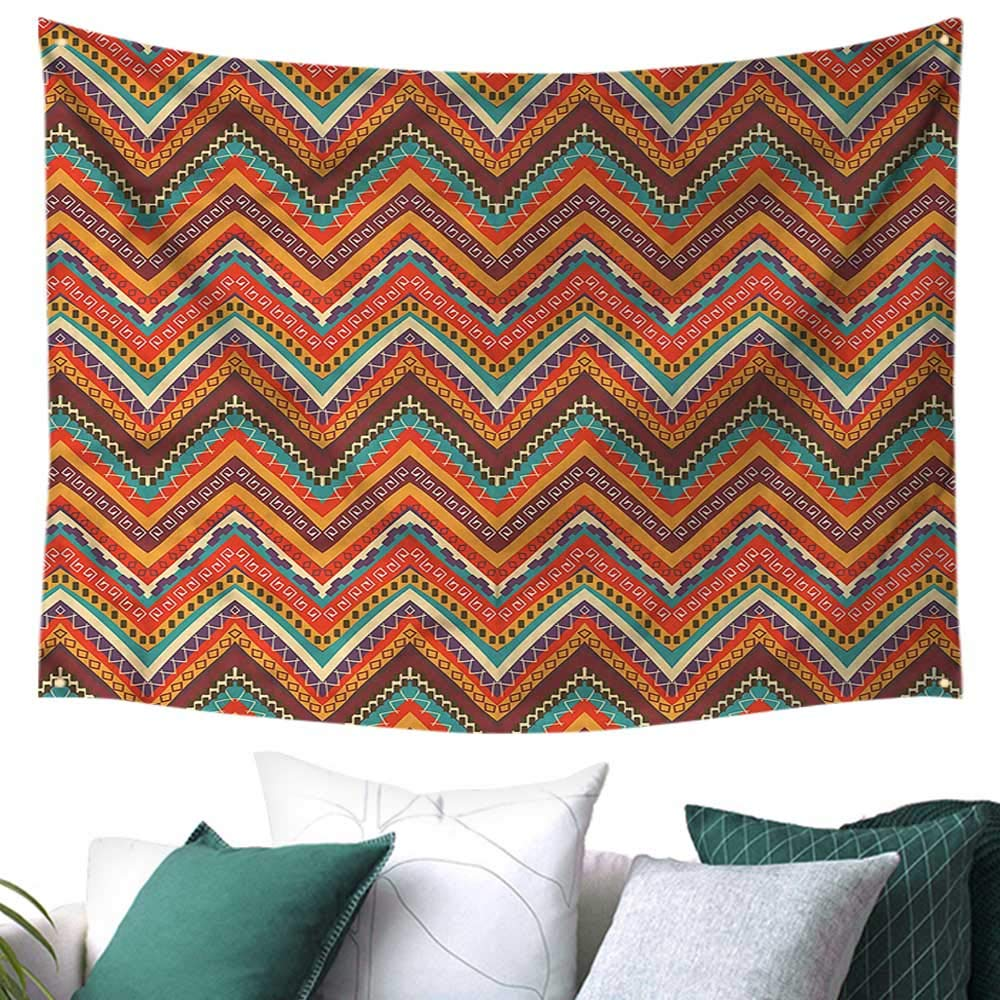 amazon com chevron wall art tapestry african style and colorful 84w rh amazon com
