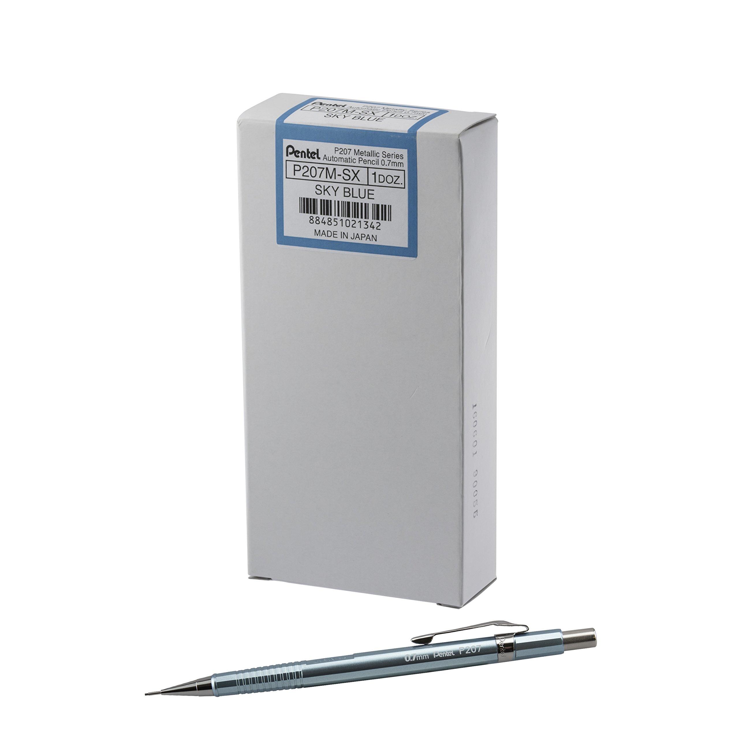 12 x Pentel Sharp portaminas, 0,5mm, barril negro