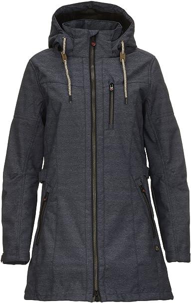 Damen-Jacke mit  Kapuze grösse 38 dunkeloliv