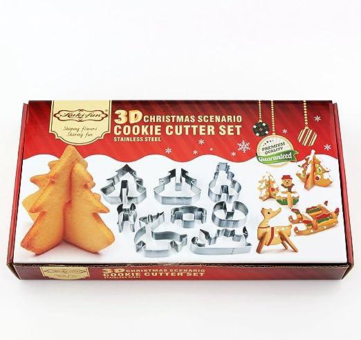 Kitchen Craft Lets Make Plastic Christmas Cookie Cutter Set