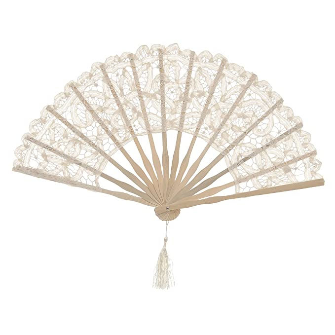 Victorian Wigs, Hand Fan, Purse, Gloves Accessories Remedios Ivory Cotton Lace Parasol Umbrella for Wedding Bridal Photo Decoration  AT vintagedancer.com