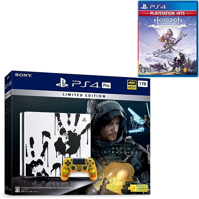 PlayStation 4 Pro DEATH STRANDING LIMITED EDITION + Horizon Zero Dawn Complete Edition セット【Amazon.co.jp特典】オリジナルカスタムテーマB (配信)