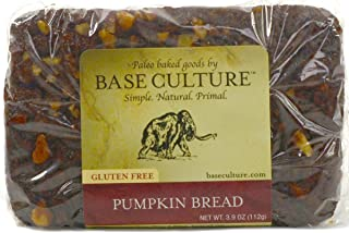 product image for Base Culture Nutty Pumpkin Bread, Snack Size | 100% Paleo Certified, Gluten Free, Grain Free, Non GMO, Dairy Free, Soy Free | 4g Protein Per Loaf, 3.2oz