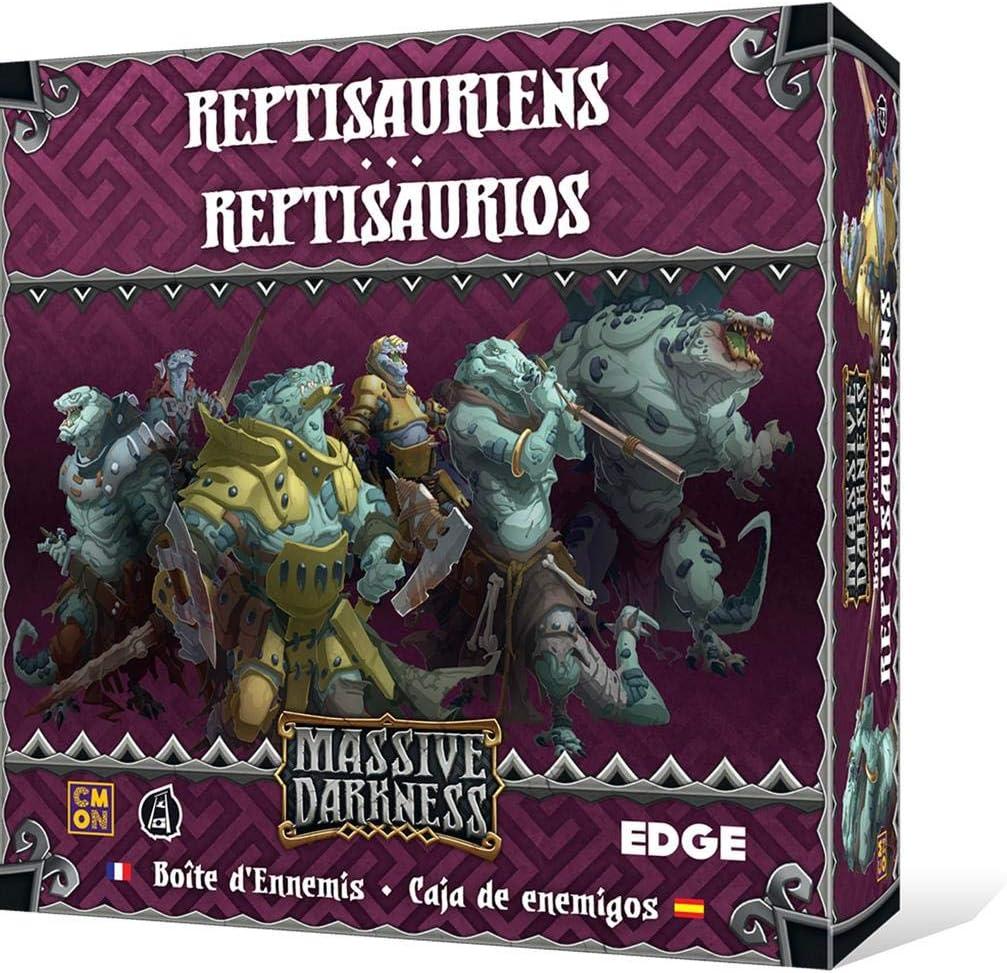 Edge Entertainment - Caja de enemigos: Reptisaurios - Español (EECMMD09): Amazon.es: Juguetes y juegos