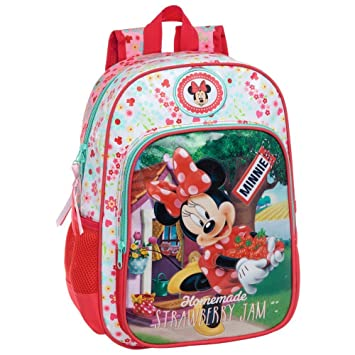 Disney Minnie Mouse Mochila escolar grande para niñas adaptable a carro: Amazon.es: Equipaje