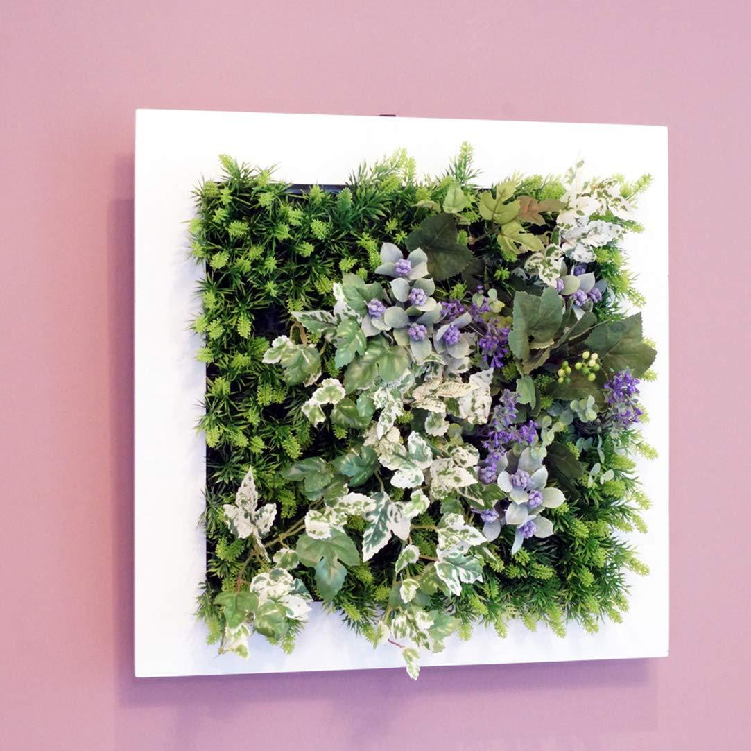 壁掛けグリーンフレームフレッシュアイビーホワイト(光触媒)造花観葉植物インテリアグリーン B01HNQOTA0