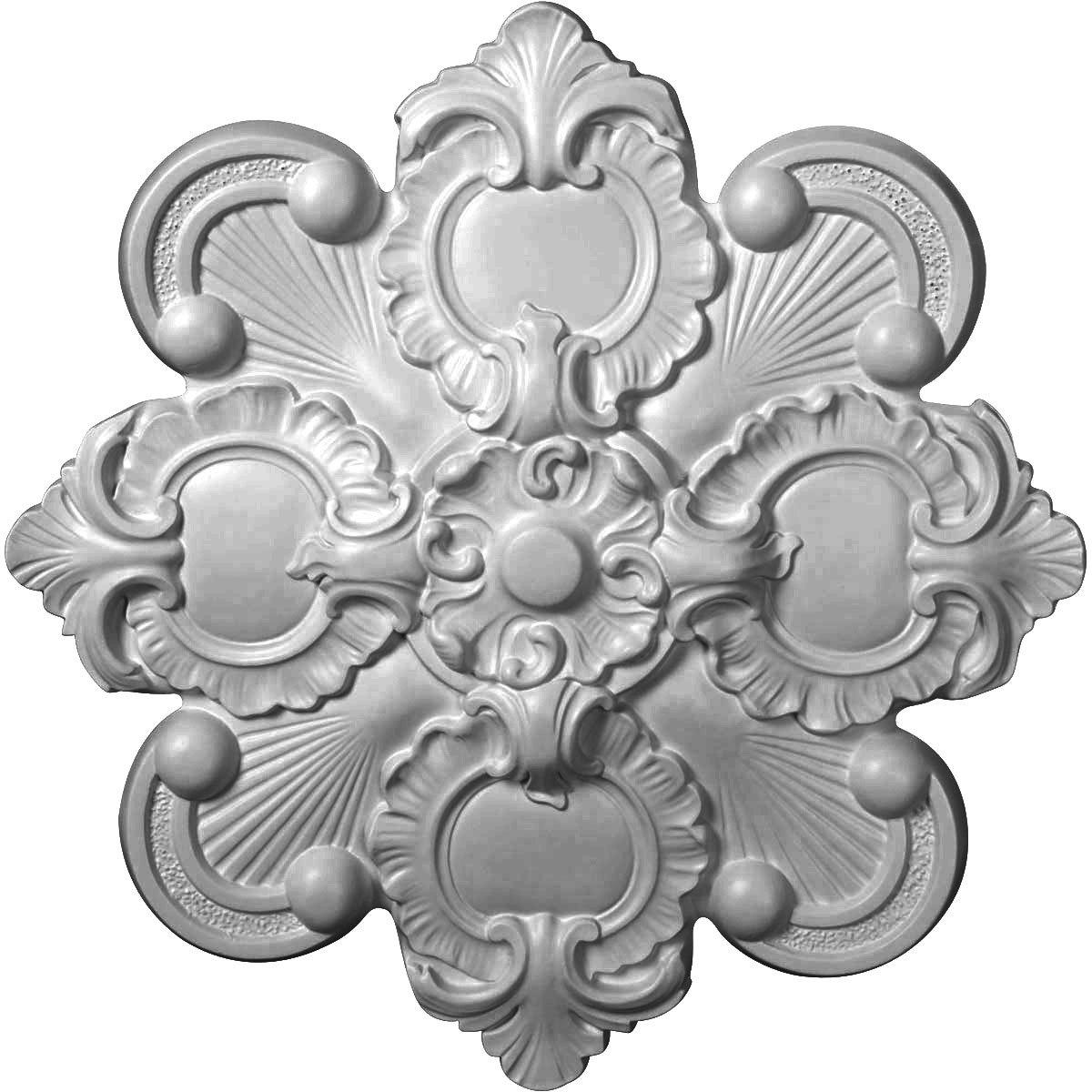 Ekena Millwork CM18KA 18 1/8-Inch OD x 1 1/2-Inch ID x 1 1/4-Inch Katheryn Ceiling Medallion
